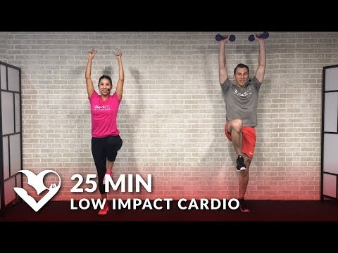 25 Min Standing Low Impact Cardio Workout for Beginners with No Jumping - Beginner Workout Routine