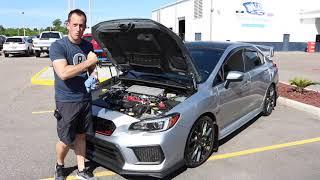 Subaru WRX STi 'stage two' Invidia catless downpipe install