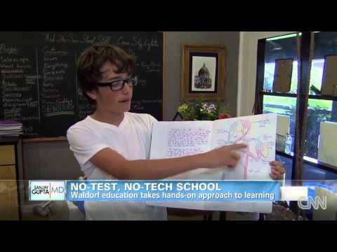 Enrollment up in no-test, no-tech school