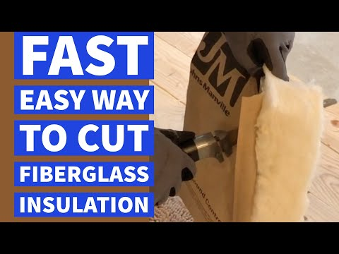 Cut Fiberglass Insulation The Fast Easy Way DIY