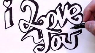 65 Gambar Grafiti Keren Love Terbaru