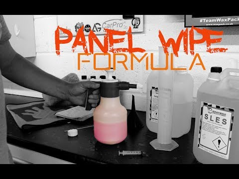 Home made IPA Panel wipe formula - Less than 3 pounds a litre