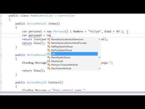 JSON y JSONResult MVC 5 | Controladores | Programando en ASP.NET MVC 5