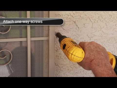 How to install a Steel Patio Security Screen Door