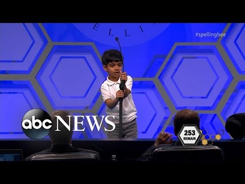 Spelling Bee   6-Year-Old Kid Makes History at National Spelling Bee