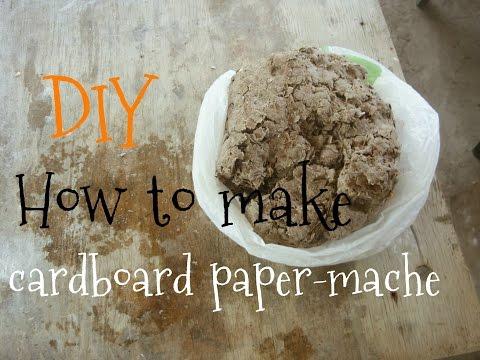 DIY How to make cardboard paper-mache || МК Как сделать папье-маше из картона