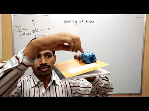 Banking of Road Circular Motion Class 12 Maharashtra Board Physics