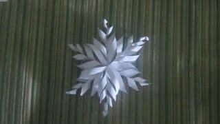 3D paper snowflake - DIY - kids craft