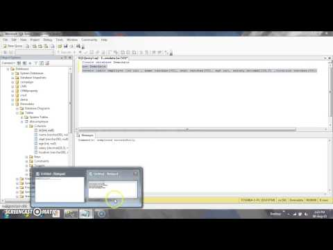 How to Create database,table,insert,update,delete in Sql server 2008 R2