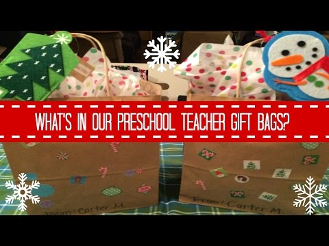 whats in our preschool teacher gift bags