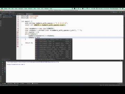 CPT-180-27-S2016 C++ Tokenizing Strings