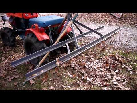 3pt Leaf rake Home made