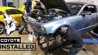 Download Coyote Swap Mustang ENGINE INSTALLED behind the scenes at Brenspeed (S197 swap) Video