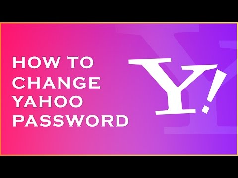 How to Change Yahoo Password - how to change yahoo password - 2016