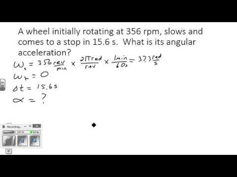 Rotational Motion Problem 1