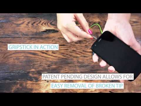 GripStick: Tool to Remove Broken Headphone Plug Stuck in Audio Jack of iPhone, Android Phone, Tablet