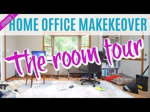 DIY Home Office Makeover Episode 1 : Home Office Tour (The Before)