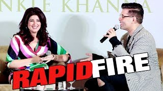 Twinkle Khanna Rapid Fire With Karan Johar | Twinkle Khanna Book Launch