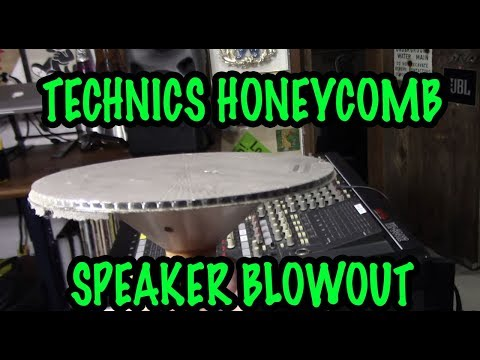 Technics Honeycomb Woofer Teardown & Blowout