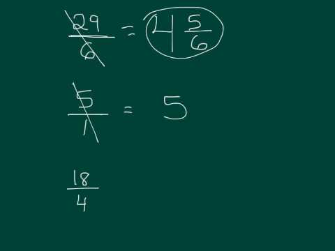 Putting an Improper Fraction in Simplest Form