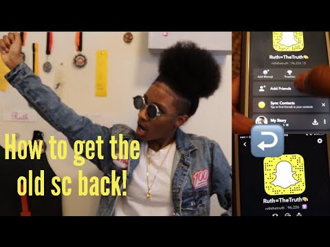 How To Un Update SnapChat!!! (Get The Old SC Back)
