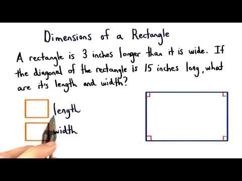 Dimensions of a Rectangle - Visualizing Algebra