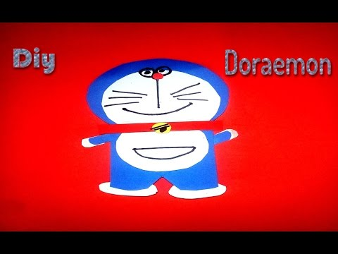 how to make doraemon with paper - diy - easy origami