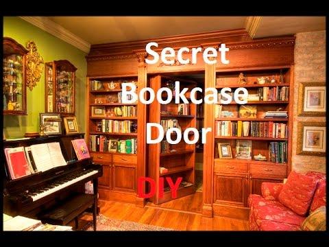 Secret Bookcase Door   how to build a secret bookcase door   diy