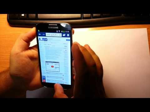 Captura pantalla screenshot Samsung Galaxy S4 de dos formas