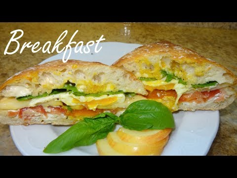 Fried Egg and Prosciutto Sandwich with Goat Cheese - The Best Breakfast Sandwich