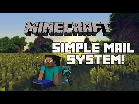 Minecraft 1.8.1 Redstone Tutorial: How to Make a Simple Mail System! (2014) (HD)