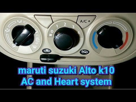 Alto k10 AC and heater full detail