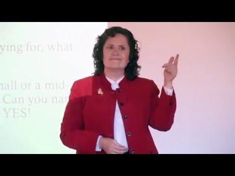 Melanie Szlucha -- Professional Speaker Demonstration Video