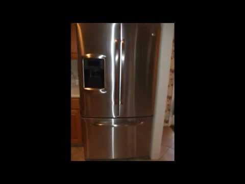 GE Bottom Freezer Refridgerator fix. Evaporator Coil drain. Model GFSS6KKX