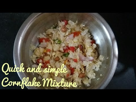 FAST SNACK-CORNFLAKES MIXTURE(INDIAN STYLE) II Simple and Happy Home