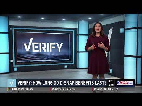 VERIFY: How long do D-SNAP benefits last?