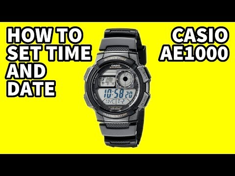 Casio AE1000 how to set time and date