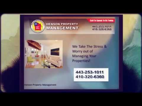 Henson Property Management - Maryland property managment is what we do