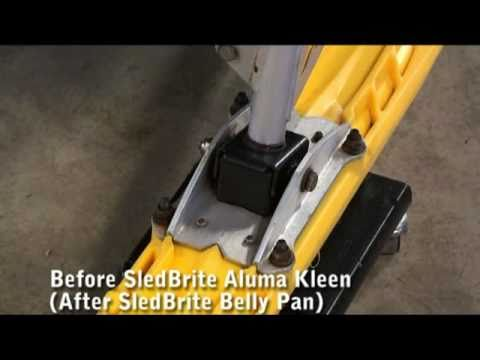 Cleaning & Removing Oxidation from Snowmobile Aluminum Parts, Ski Attachments