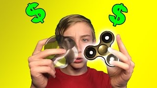 GOLD FIDGET SPINNER!? | Unboxing, Test, and Review
