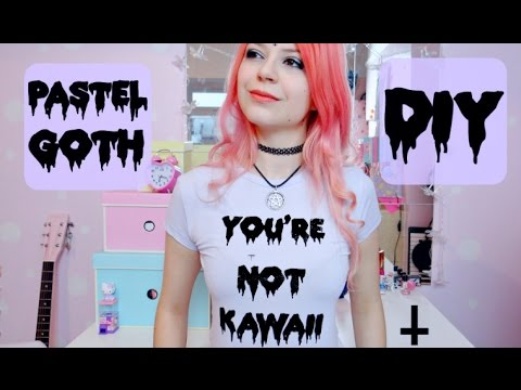 DIY: Pastel Goth T-Shirts