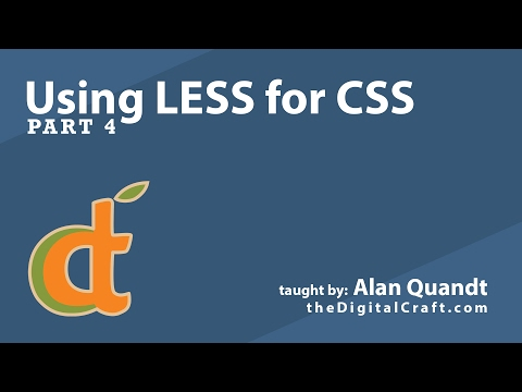 Using LESS for CSS - Part 4 - Mixins