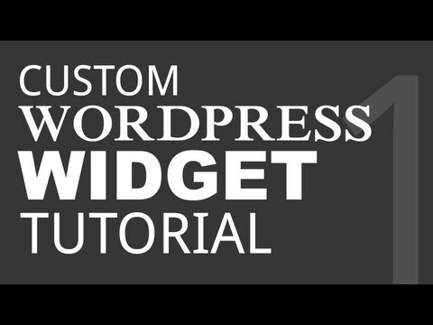 Let's Create a Basic Wordpress Widget - Part 1
