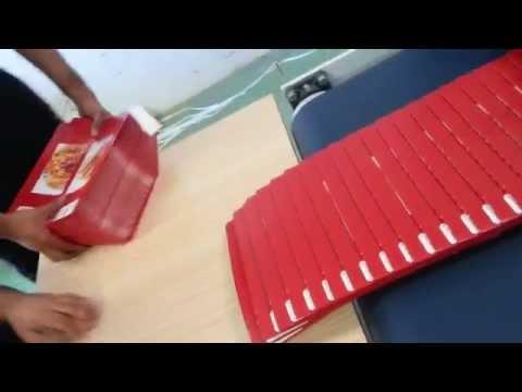 Greece Four Corner Cardboard Paper Carton Box Fold & Glue Machine QC-SLJ 希腊四角盒视频