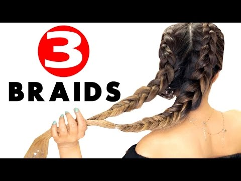 ★ 3 Summer BRAIDS for When You're Already Running Late | DOUBLE BRAID Hairstyles