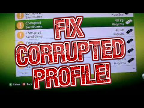 How to fix a corrupted xbox 360 profile