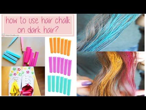 How to use Hair Chalk on dark hair & create a vivid color?