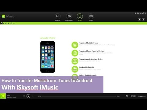 iSkysoft iMusic - How to Transfer Music from iTunes Library to Android Phone
