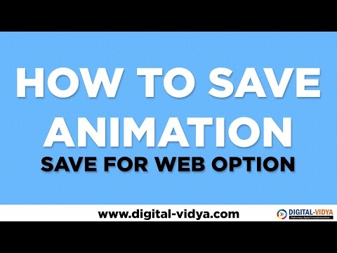 How to save animation in Photoshop - Save for Web Dialog