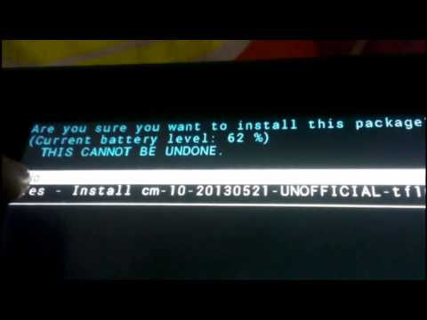 Root and Install Custom Android Jelly Bean on ASUS Transformer TF101